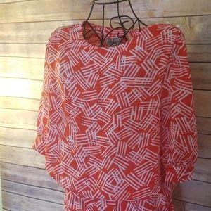 J.B. Too Dresses - Vintage J.B. Too 12 red & white pattern dress